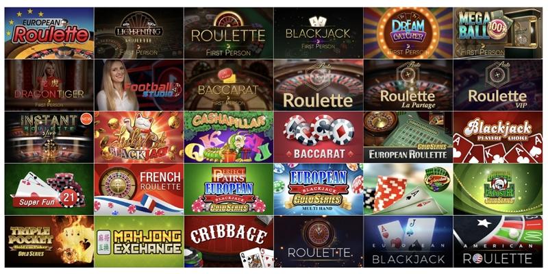 カジノエックスのテーブルゲーム